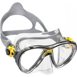 Masque BIG EYES EVOLUTION CRYSTAL CLEAR/ JAUNE- CRESSI-