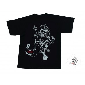T-Shirt Sea Horse Noir TECLINE